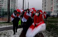 Отважные девушки Ангарской вышли на марш