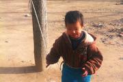 Умственно отсталого ребенка в Китае привязали к дереву