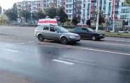 В Витебске прошел автопробег под национальными флагами