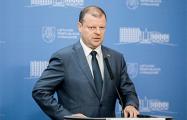 Премьер-министр Литвы передал Румасу «план-хулиган» по БелАЭС