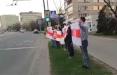 Жители Зеленого Луга выстроились в цепь солидарности