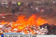 Губернатор в Кении убежал от взорвавшихся бутылок пива