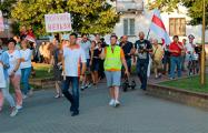 Жители Зельвы потребовали от Лукашенко уйти навсегда