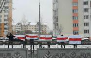 Логойский тракт вышел на марш с национальными флагами
