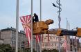 Во Владивостоке к 9 мая вывесили флаги, напоминающие знамена ВМС Японии