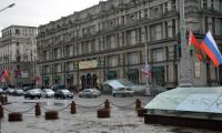 На улицах Минска в «День дурака» появились флаги России