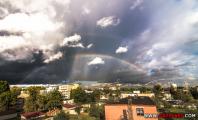Фотофакт: Двойная радуга в Минске
