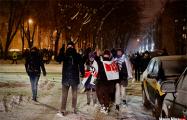 Около 200 минчан прошлись маршем в районе Пушкинской