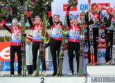 Женская сборная Беларуси по биатлону заняла второе место на этапе Кубка мира