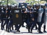 На демонстрации шахтеров в Мадриде ранено более 70 человек
