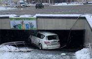 Водитель Infiniti, упавшей в переход на Комаровке, рассказал о случившемся