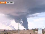 Войска Каддафи подорвали нефтехранилище