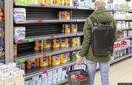 Фотофакт: белорусы начали запасаться продуктами
