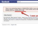 Facebook выставил мелкому рекламодателю счет на 8 миллионов долларов