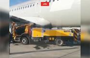В московском аэропорту грузовик врезался в «Боинг»