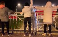 Жители Сухарево провели акцию на мосту через МКАД