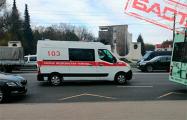 Фотофакт: «Скорые» забирают людей в регионах Беларуси