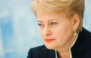 Грибаускайте попала в рейтинг политиков, которые будут определять политику ЕС
