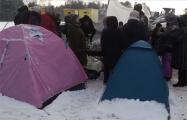 Жители Казани поставили бессрочный палаточный лагерь