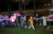 Жители Серебрянки вышли на вечерний марш