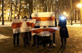 Партизаны Грушевки оригинально поздравили белорусок с праздником