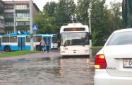 Ливень затопил улицы Витебска