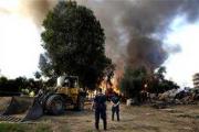 В Греции сровняли с землей подпольную афганскую деревню