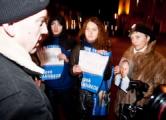 Акция солидарности в Минске (онлайн)