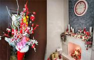 С каминами, флагами и Ниной Багинской: как минчане украшают дворы и подъезды