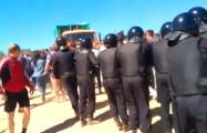 Видеофакт: В Подмосковье ОМОН разгоняет противников мусорного полигона