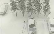 На Казахстан обрушился снежный буран