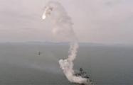 Неудачный запуск ракеты с российского фрегата попал на видео