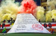 Появилось видео яркого перформанса фанатов «Немана» в честь 100-летия БНР
