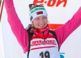 Дарья Домрачева победила в спринте в Оберхофе