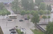 Видеофакт: После ливней Новополоцк стал Венецией