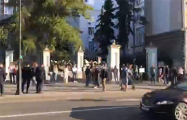Видеофакт: Длинная цепь солидарности с Беларусью в Москве