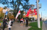В разных районах Минска собираются протестующие