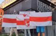 Белорусы Латвии и Санкт-Петербурга вышли на акции солидарности