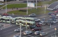 В Минске на проспекте Дзержинского образовался транспортный коллапс