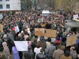 Жильцы улицы Притыцкого победили, протестуя на улице (Фото)