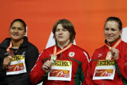 Надежда Остапчук и Наталья Михневич выиграли золото и серебро чемпионата Европы по легкой атлетике в толкании ядра