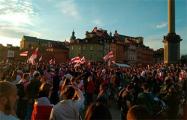 Сотни белорусов собрались в центре Варшавы