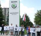 Белорусы будут пикетировать главный офис концерна «Škoda»