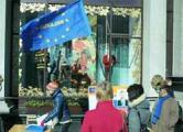 Лукашистам не нравятся европейские флаги