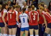 Женская сборная Беларуси уступила российским волейболисткам