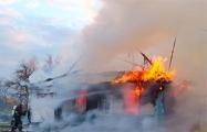 В Мядельском районе 12-летний мальчик на руках вынес с пожара младшего брата