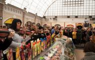 Одесский оркестр устроил «европейский флеш-моб» на Привозе (Видео)