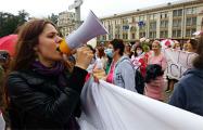 Участницы Женского марша призвали прийти завтра на Марш мира и независимости