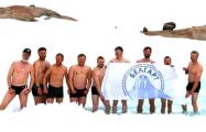 Как белорусы окунались на Крещение в Антарктиде