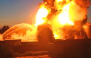 Вокруг горящей нефтебазы под Киевом началась эвакуация населения